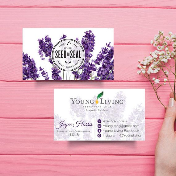Young Living Business Card Custom Young Living Business Card