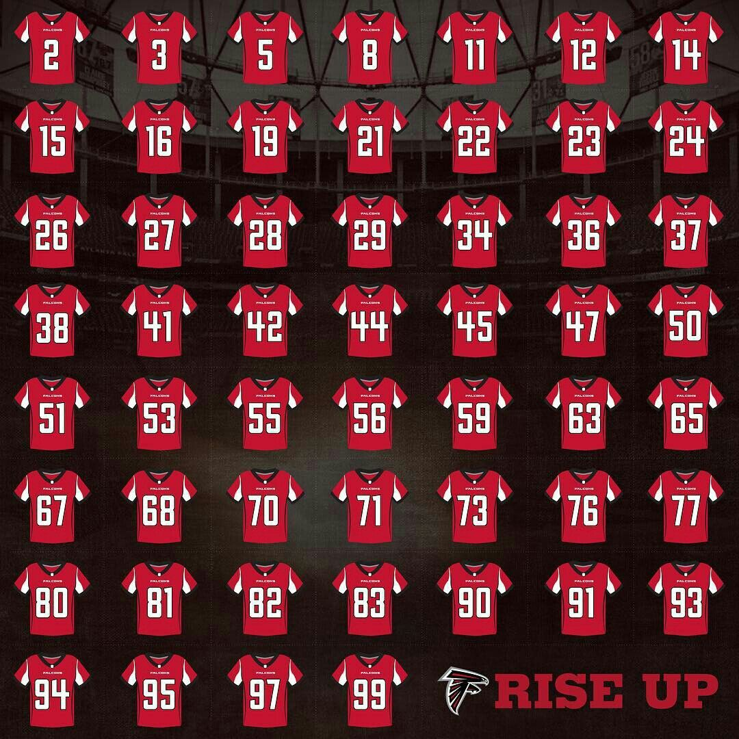 2016 17 Falcons Roster Atlanta Falcons Football Atlanta Falcons Memes Atlanta Falcons Art