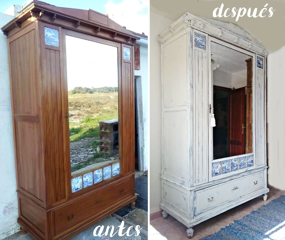 C mo actualizar un armario antiguo bohemian and chic - Replicas de muebles antiguos ...