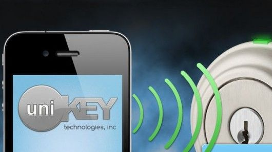 UniKey a digital key, stored on a smartphone app, can be used to open a door lock