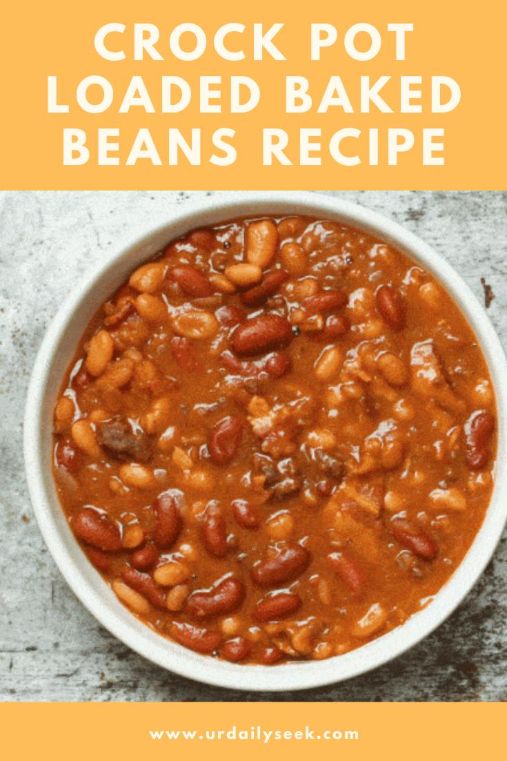 Crock Pot Loaded Baked Beans Recipe In 2020 Bean Recipes Recipes Baked Bean Recipes