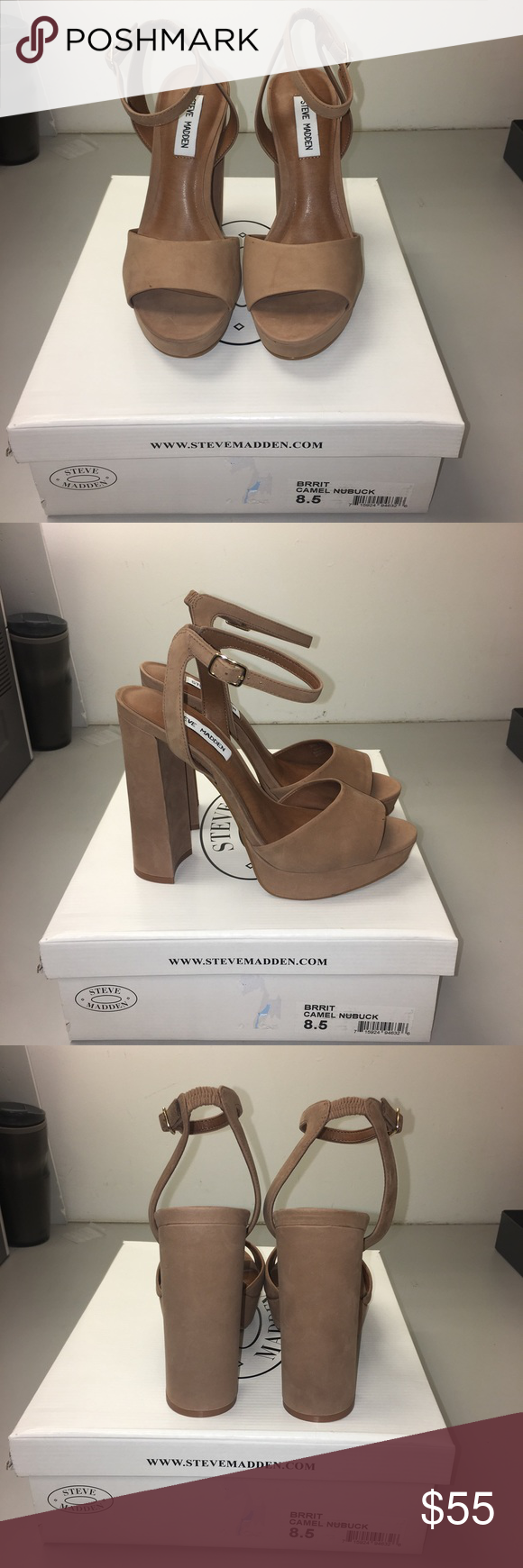 Steve Madden Heels brand New with box. Steve Madden Heels dress it up or dress it down !! Steve Madden Shoes Heels