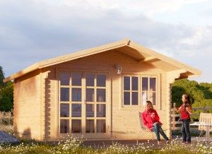 Log cabin WISSOUS 5m x 3m (17\' x 10\') 44mm | Tiny Dwellings ...