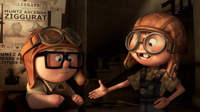 The voice of Young Ellie in Up is the daughter of the film's writer, Pete Docter—and her name is Elie.