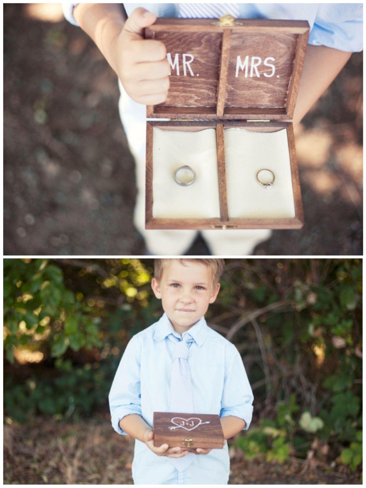 DIY Personalized Wooden Ring Bearer Box Super adorable idea I m