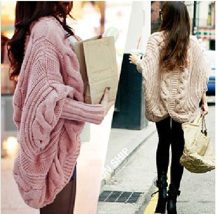 Free Shipping New Womens Long Sleeve CableKnit Jumper Cardigan ...