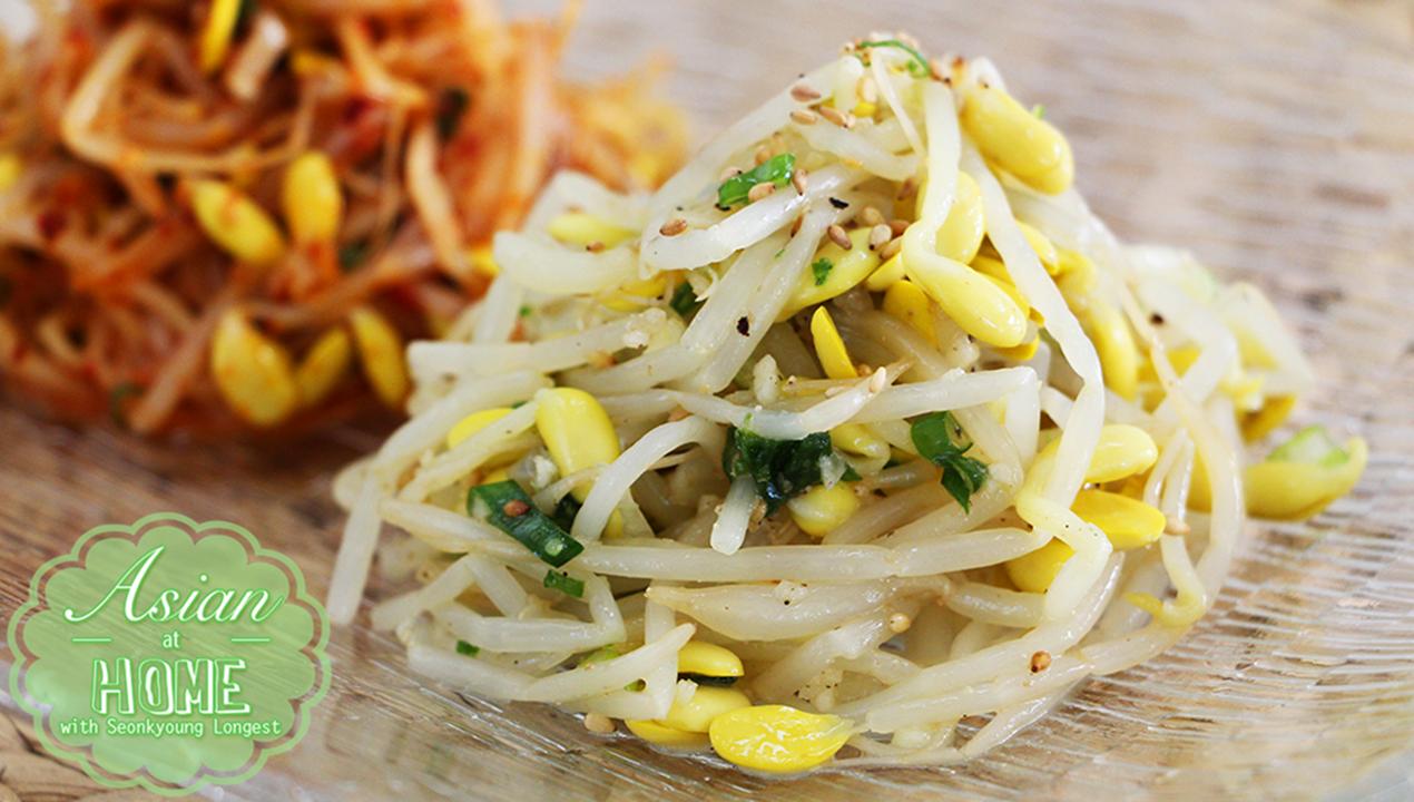 Kongnamul Muchim Korean Soybean Sprouts Recipe Video Seonkyoung Longest Recipe Braised Chicken Recipes Beef Ribs Recipe Grilled Chicken Salad Recipe
