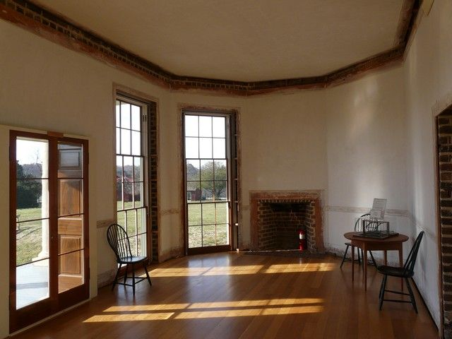 Poplar Forest Has Triple Hung Windows And Opens Onto A
