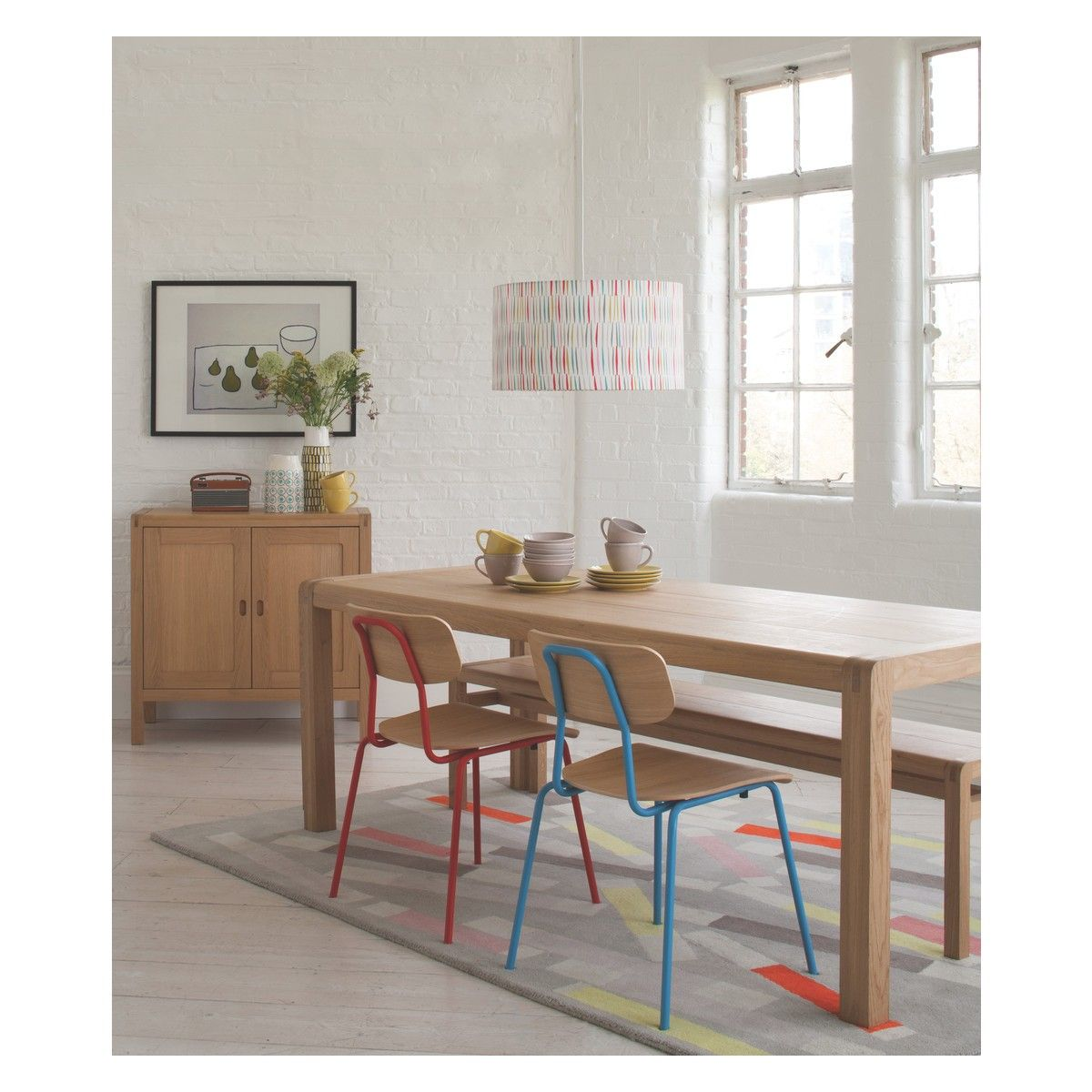 RADIUS 8 Seat Oak Dining Table