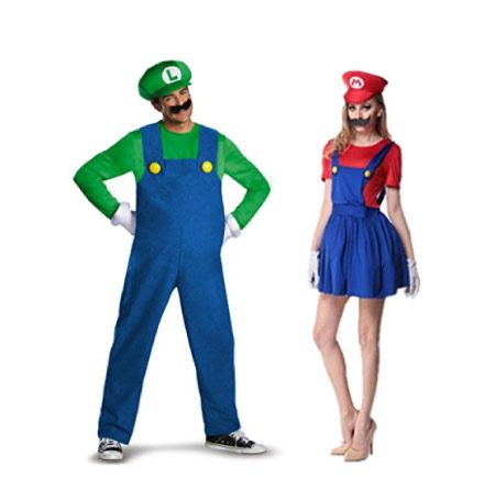 Mario and Luigi Halloween Costumes for Couples. Gamer outfits. #geeks #nerds #costumes  sc 1 st  Pinterest & 20+ Halloween Couple Costume Ideas That Are Super Cool | Nerd ...