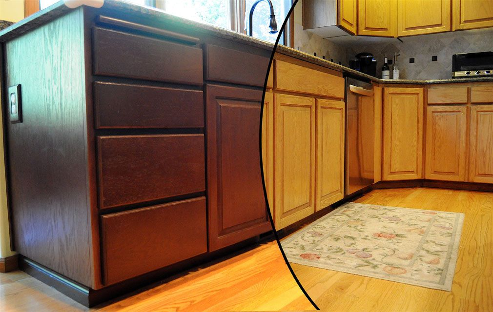 oak cabinets refinished before and after | mf cabinets