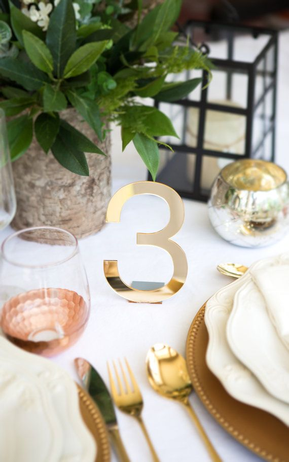 Acrylic Table Numbers for Weddings and Events - Standing Numbers