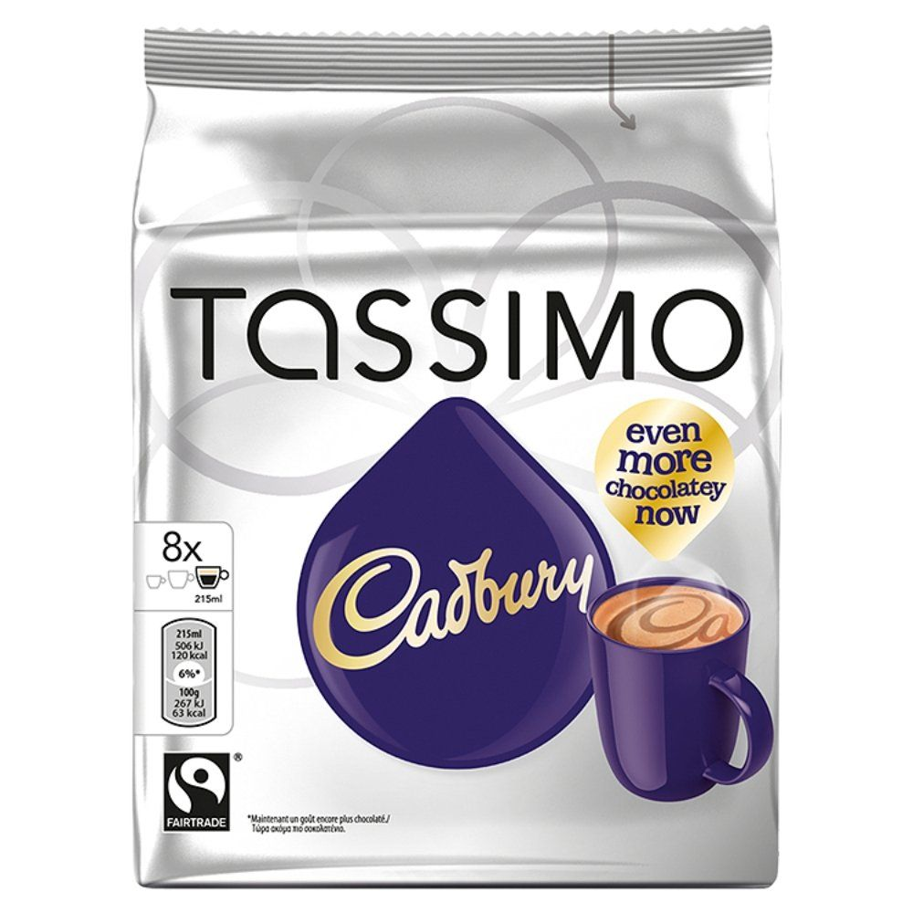 Tassimo Cadbury Hot Chocolate 240 G Pack Of 5 For The