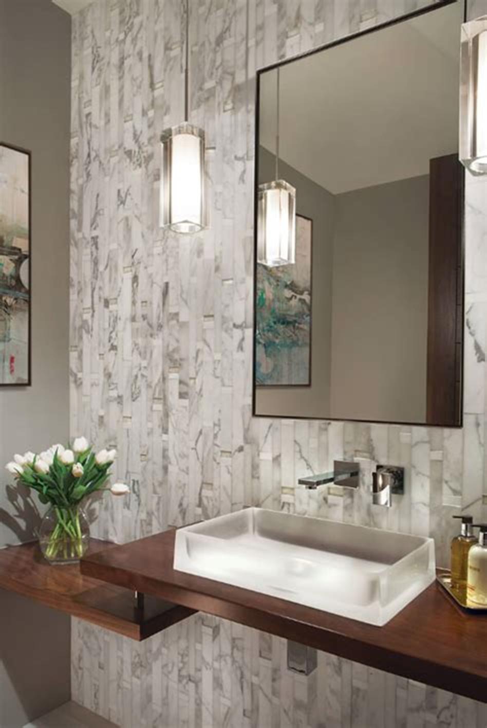 34 Best Half Bathroom Design And Decorating Ideas On A Budget In 2020 Powder Room Ideas Half Baths Contemporary Bathroom Faucets Small Half Bathrooms