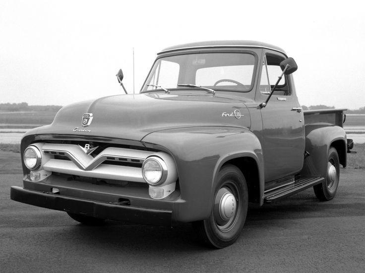 1955 Ford F 100 Pickup Retro Wallpaper 2048x1536 142319 Ford Pickup Trucks Classic Ford Trucks Ford Pickup