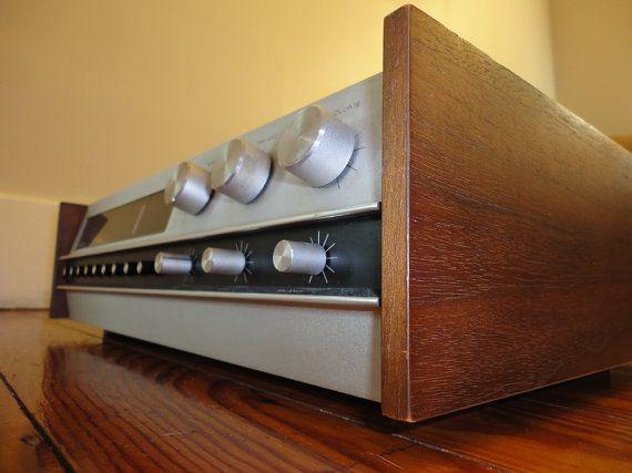 Vintage Stereo Receiver Ampex Asr 100 Amplifier Am Fm Tuner R L Stereo Speaker Output 1 4 Quot Headphone Jack Phono Tape Au Vintage Electronics Stereo Vintage