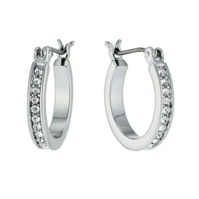 80e8a2ab2654f Radiance With Clear Swarovski Crystal Hoop Earrings- H. Samuel the ...