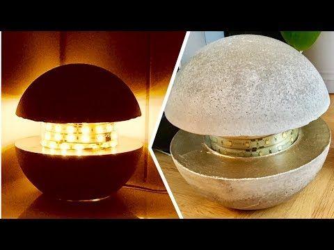 Betonlampe Diy Concrete Lamp Eng Sub Youtube Diy Cratfs
