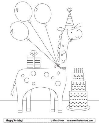 Free Coloring Pages Birthday Coloring Pages Happy Birthday