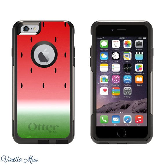 iPhone Otterbox Commuter Case for iPhone 5, 5s, 6, 6 Plus Watermelon Ombre Summer Vacation BBQ Preppy Girls Women Protective Cover 1135