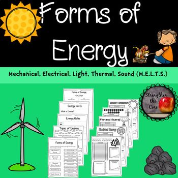 Forms of Energy Notes, Worksheets, and Research Project ...