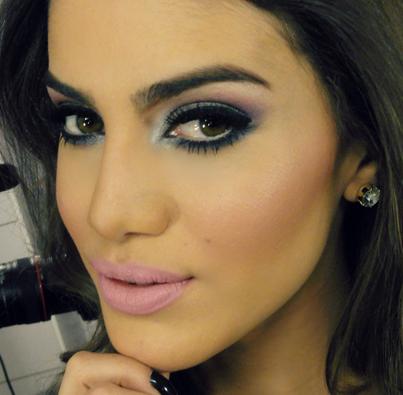 Camila Coelho #Smokey #Eye #Nude #Lips #Pink #Makeup