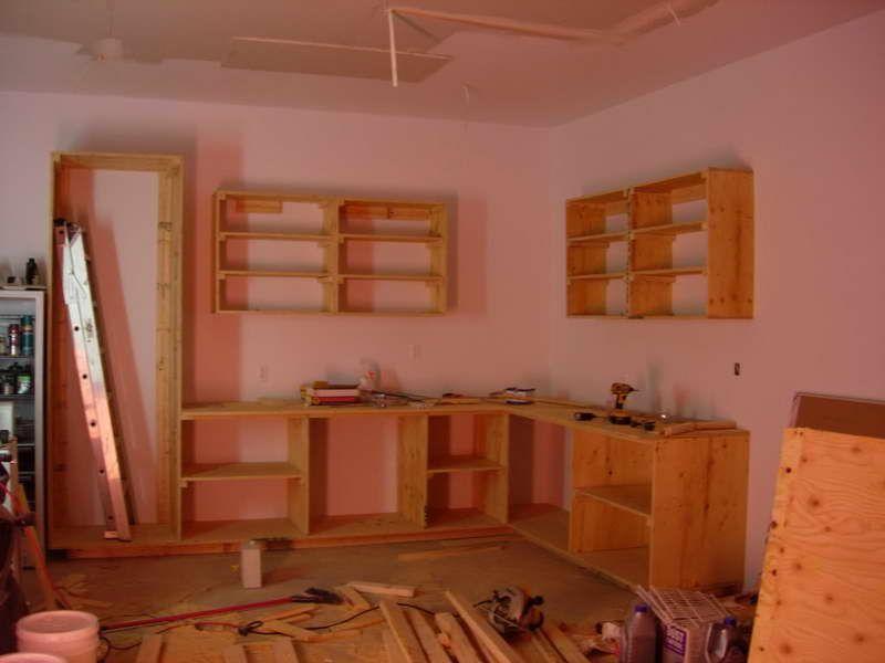 wooden garage book shelf Different Types for DIY Garage Shelves