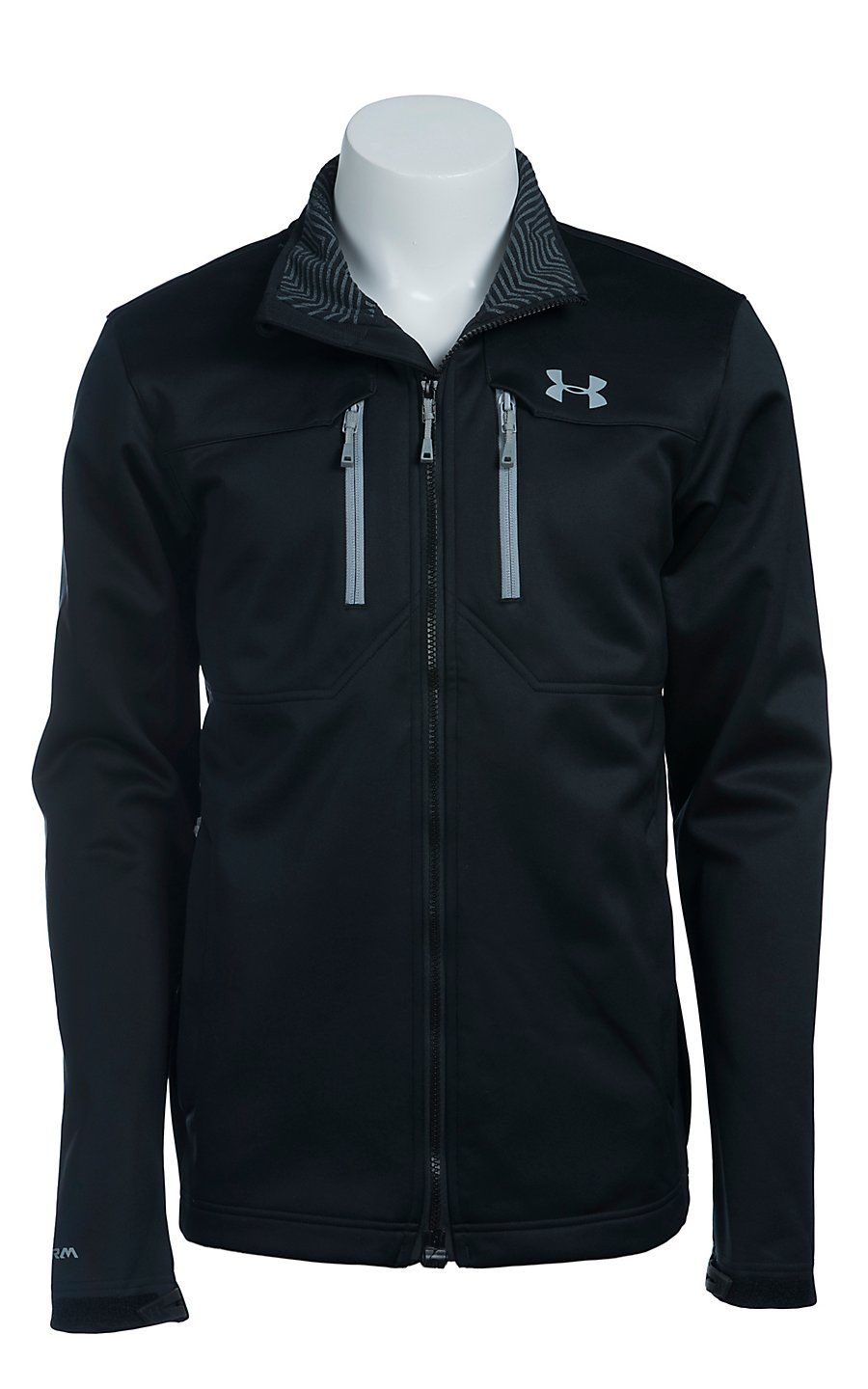 b5e5c362a26f1 Under Armour Men's Black UA Storm ColdGear Infrared Softershell Jacket