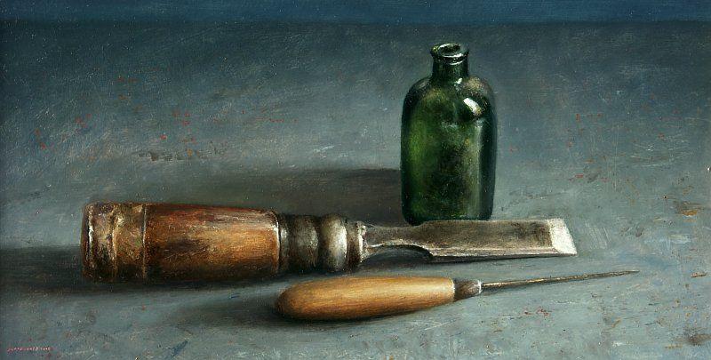 Painting Still Life With Chisel Still Life Painting Still Life