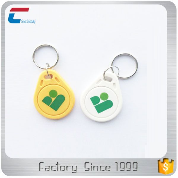 Iso14443a Rfid Passive Abs Material Hotel Key Card Nfc Key Fob Tag