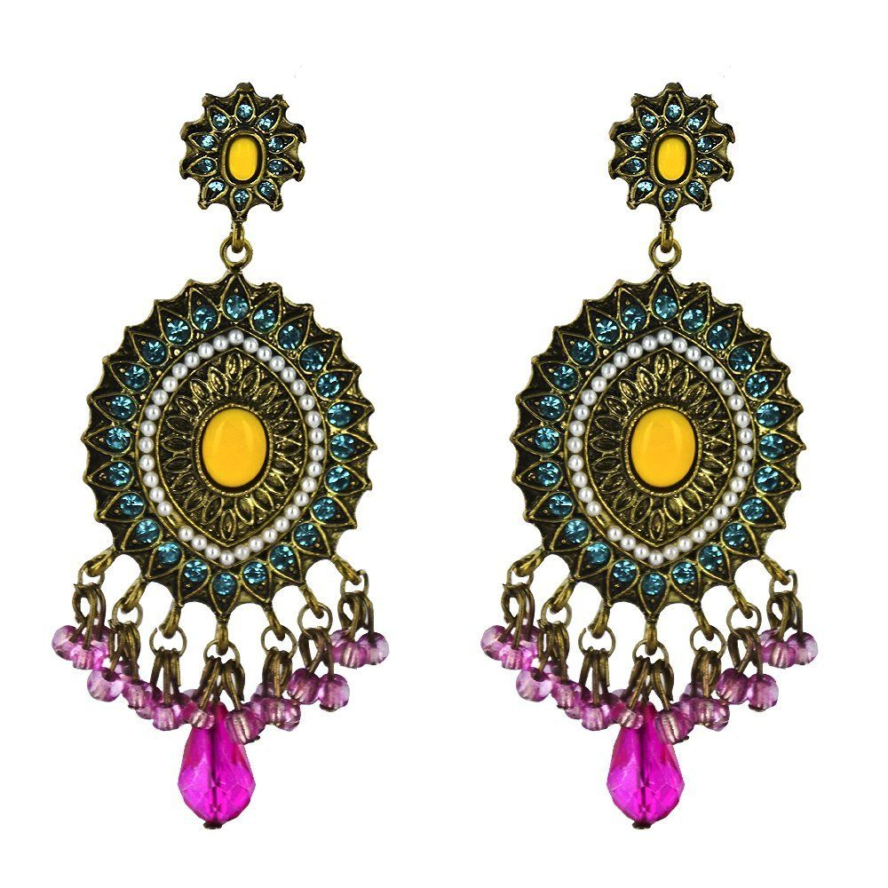 Twinkle metal with application earrings woven web yellow twinkle metal with application earrings woven web yellow chandelier earrings arubaitofo Choice Image
