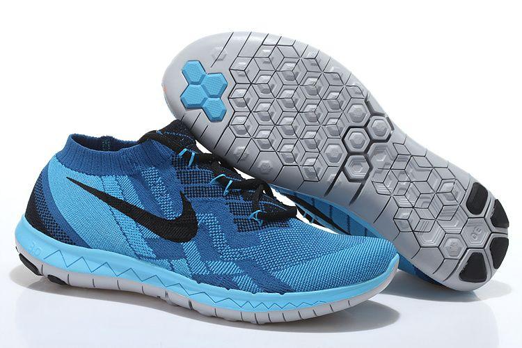 be98856efe1b free shipping 3.0 v5 sky blue silver black nike free rn flyknit womens  running shoe window