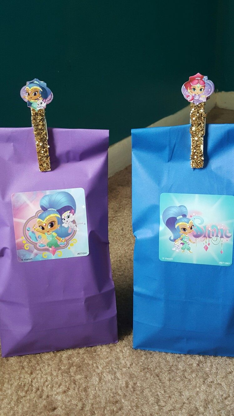 Shimmer And Shine DIY Candy Bags