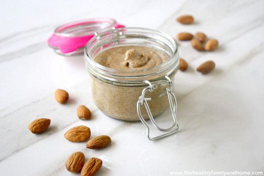 How To Make Homemade Almond Butter...super easy to make in either a food processor or a Vitamix!