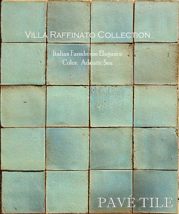 Villa Raffinato Italian Terra Cotta Wall Tile - turquoise and green