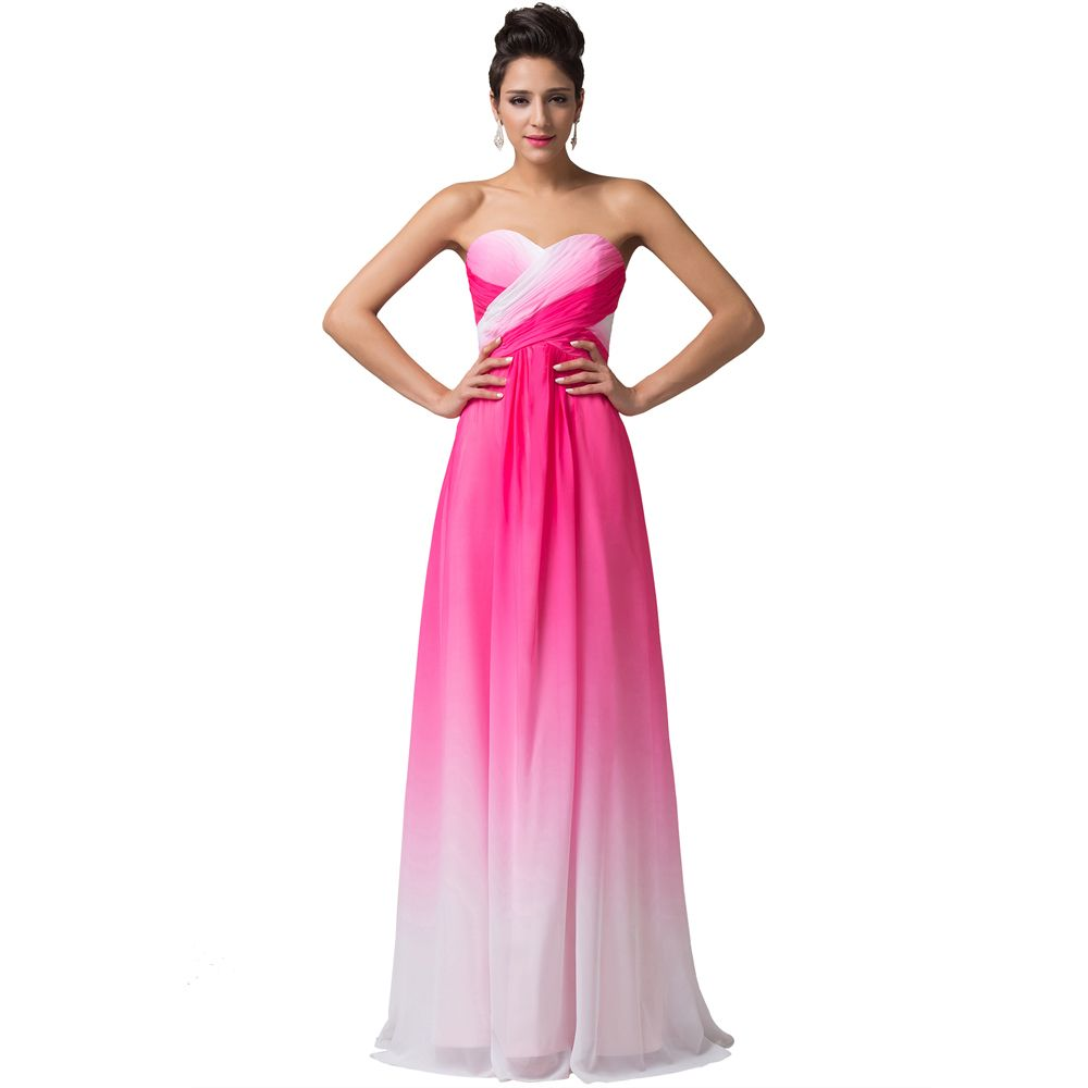 Freeshipping fashion strapless floorlength colorful chiffon sexy