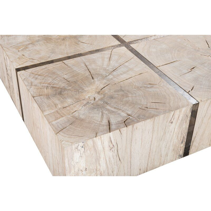 Tacto Solid Wood Block Coffee Table Wood Coffee Table Wood Blocks