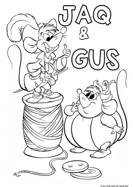 Printable Jaq And Gus Cinderella Coloring Pages For Kids Color Rhpinterest: Silly Cinderella Coloring Pages At Baymontmadison.com