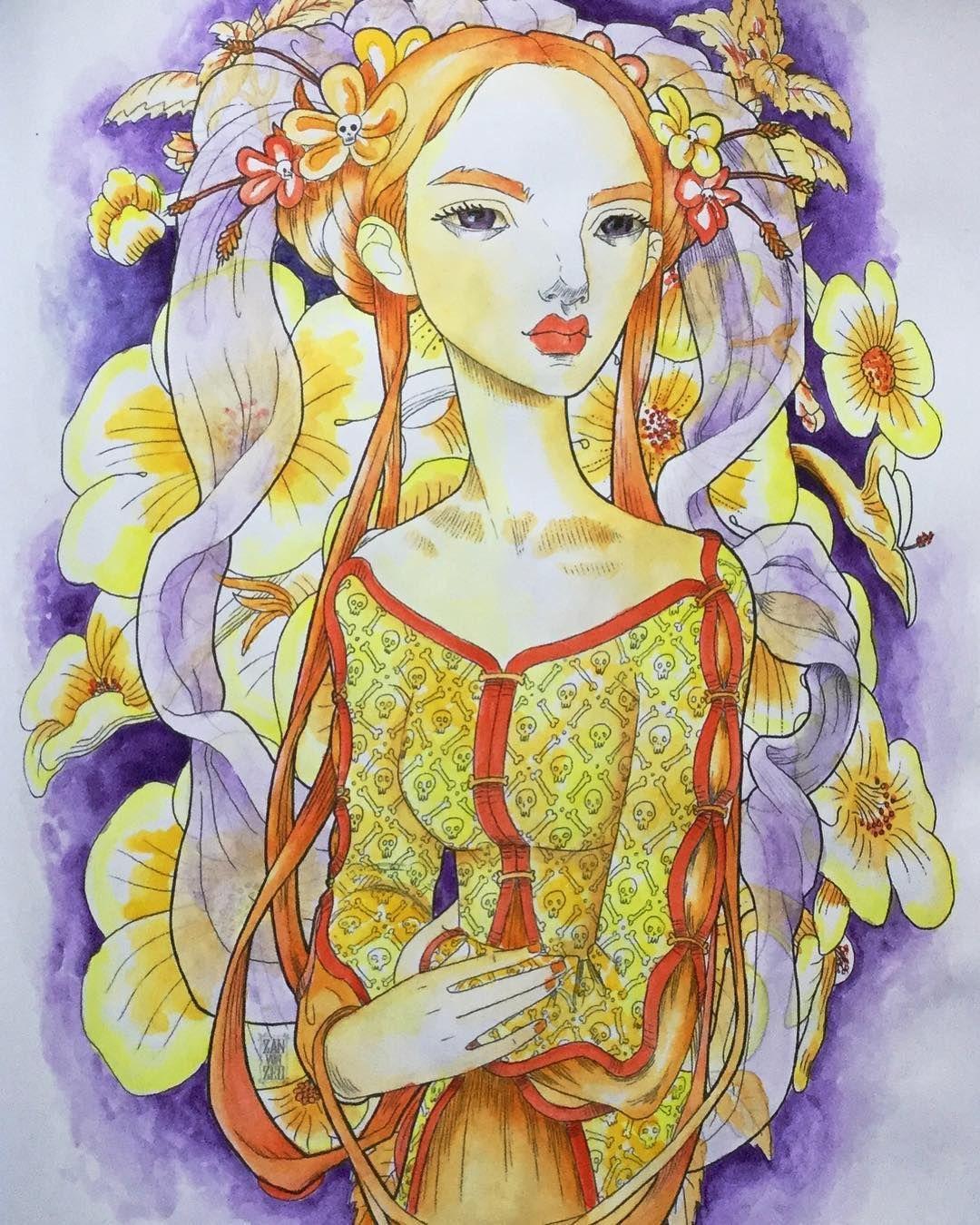 Mystical beauties creative heaven book. Artist Zan Von zed ...