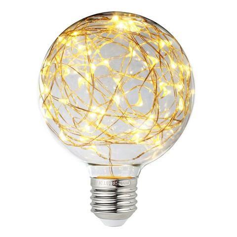 Vintage Edison LED Decorative Fairy Bulb - 3W E26 E27 Warm White