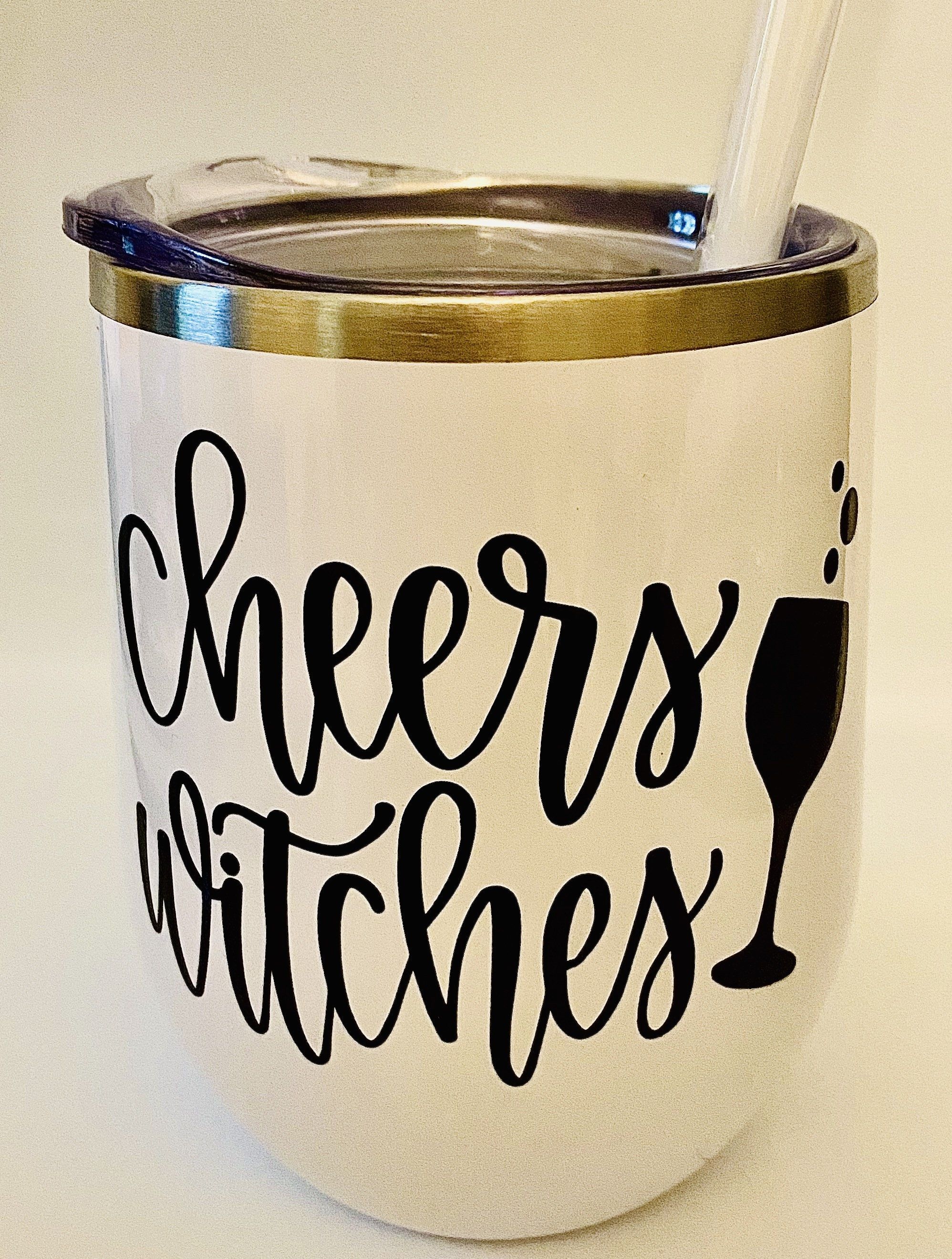 Halloween Tumbler Cheers Witches Stainless Steel Wine Tumbler-Double Insulated