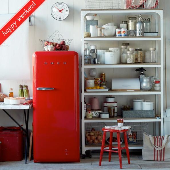 Festive Red Kitchen via West Elm