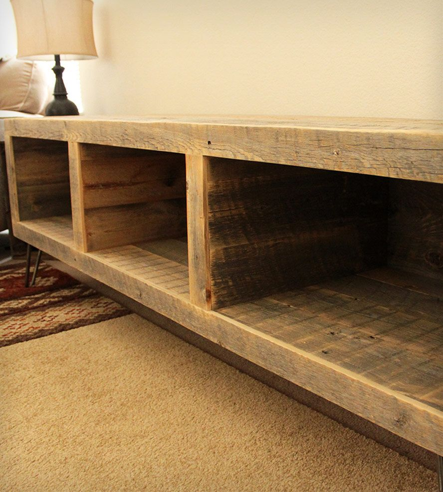 Reclaimed Wood Segmented Media Console