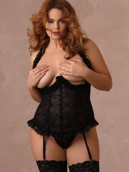 4935a0f2cac Who says naughty isn t nice  Our Naughty Indulgence Open Cup Bustier is a sexy  cupless halter bustier with a sheer lace body and ruffled lace trim at the  ...