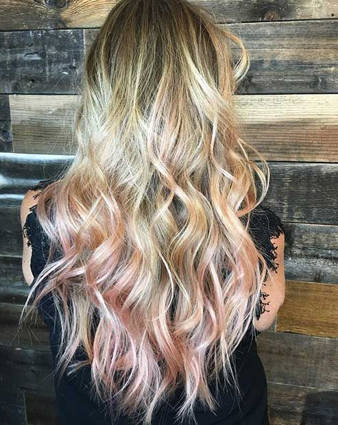 43 Trendy Rose Gold Hair Color Ideas Rose Gold Hair Blonde Dyed