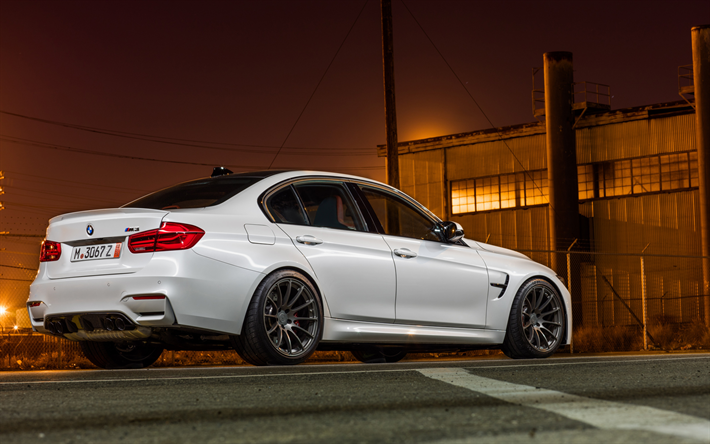 Download Wallpapers Bmw M3 F80 2018 White Sedan Black Wheels Tuning Of The New M3 Evening Sunset Tuning F80 Bmw Besthqwallpapers Com Bmw Black Wheels Bmw M3