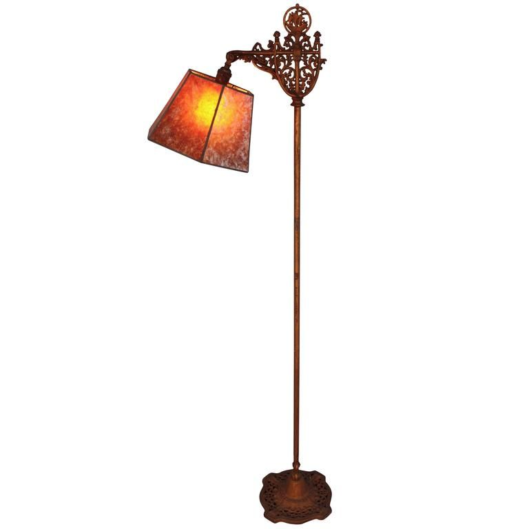 Spanish Galleon Motif Bridge Floor Lamp 1920s 1 Floor Lamp Vintage Floor Lamp Antique Floor Lamps