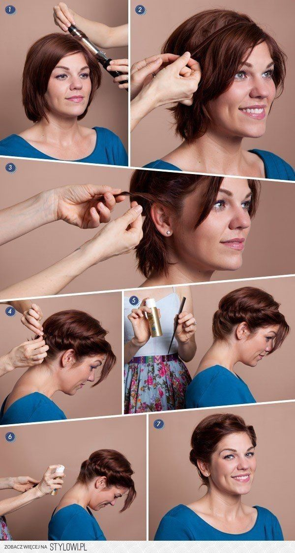 12 Short Updo Hairstyles Ideas: Anyone Can Do | Diy shorts, Short ...