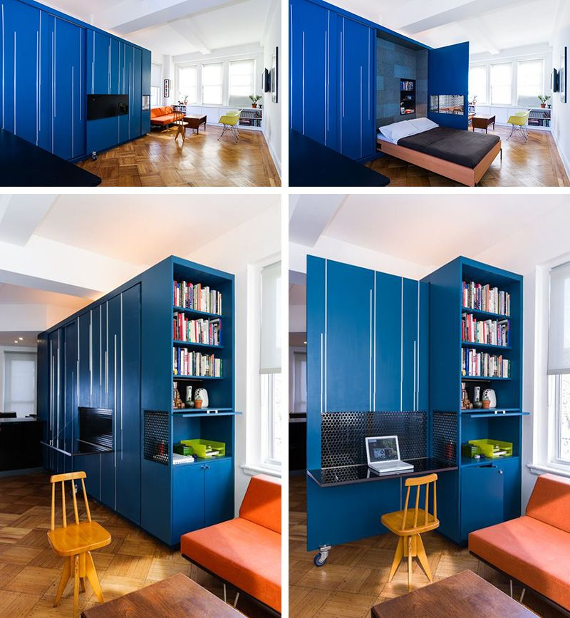 A Custom Space Saving Solution Designed For A Small New York ...