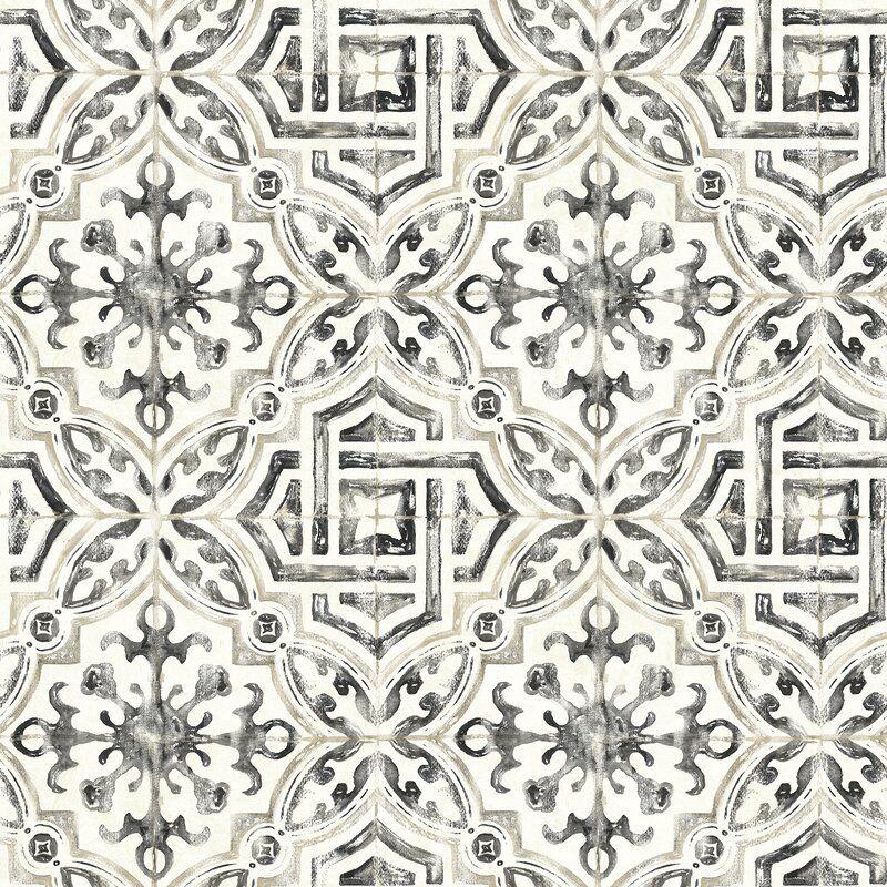 Jovanny Spanish Tile 33 L X 20 5 W Geometric Wallpaper Roll Reviews Joss Main Tile Wallpaper Geometric Wallpaper Brewster Wallpaper